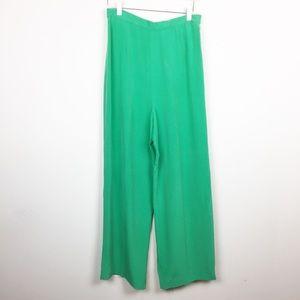 LRL | Vintage High Rise Wide Leg Silk Pants